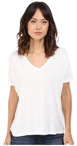 Splendid Tee V-neck Back Tack T Shirt White
