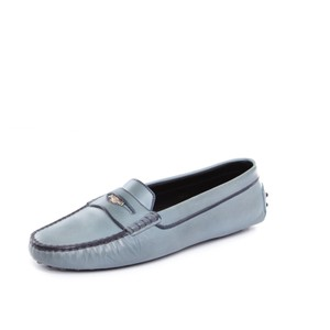 Tod's Loafer Leather Penny Vintage TEAL Flats