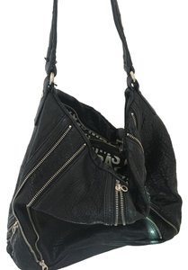 Marc by Marc Jacobs Leather Zippers Silver Tone Hardware Hobo Bag