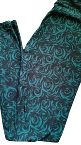 LuLaRoe BNWT-LulaRoe OS Leggings Beautiful Black Emerald Green Roses Flowers-HTF-Unicorn Leggings