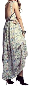 Cream, Black Multi Maxi Dress by Free People Bohemian Embroidered Maxi Sheer Floral