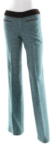 Nanette Lepore Tweed Dress Teal Trouser Pants Green