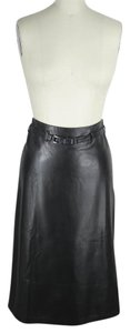 Jenne Maag Leather Pencil Skirt Black