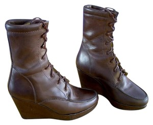 Whyred Vintage Look Leather Ankle Distressed Leather Brown Boots