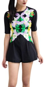 alice McCALL Floral Embroidery New Chic White Yellow Festival Playsuit Dress