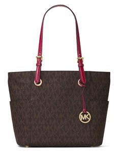 Michael Kors 30h6gttt4v Brown Cherry Mk Tote