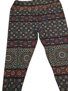 LuLaRoe LuLaRoe TC tall curvy Mosaic Kaleidoscope Circle Stained Glass Leggings UNICORN Leggings