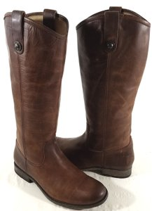 Frye Vintage Leather Knee-high Buttons Distinguish True To Size Style No. 77172 Rugged Cognac Boots
