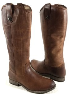 Frye Vintage Leather Knee-high Rugged Cognac Boots