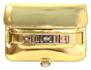 Proenza Schouler Crossbody Metallic Front Flap Gold Messenger Bag