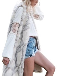 ETERNAL SUNSHINE CREATIONS Maxi Faux Fur Maxi Cardigan Jacket Coat Vest