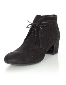 Chanel Suede Ankle Ankle black Boots