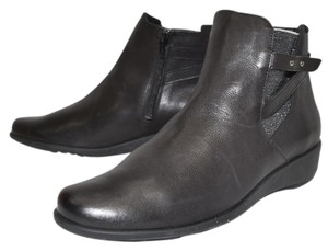 Mephisto Bootie Wedge Boot BLACK LEATHER Boots