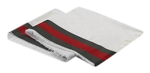 Gucci GG Silk Cotton Stole Scarf with Web