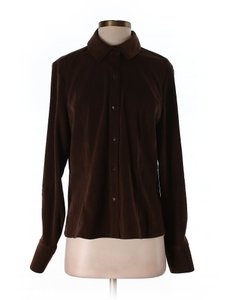 Norton McNaughton New Buttons Size 6 Button Down Shirt brown