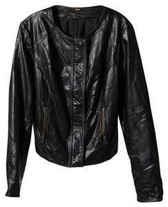 Free People Motorcycle Vegan Leather Motorcycle Jacket