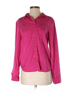 American Eagle Outfitters School Summer Cute Small Button Down Shirt pink