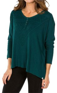 Element Green Long Sleeve Top Teal