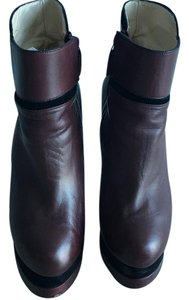 Chrissie Morris Maroon and Black Boots