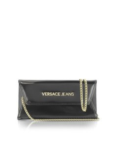Versace Jeans Collection Logo Black Clutch