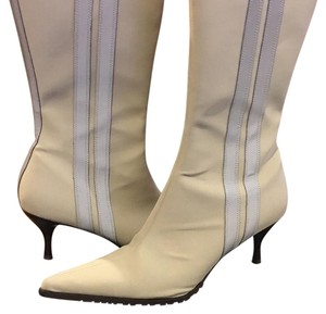 Donald J. Pliner Tan with reflective stripes Boots