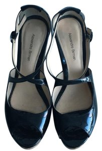 Alexandre Birman Black Patent Leather Wedges