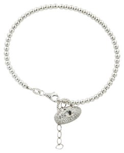 Other .925 STERLING SILVER BANGLE WITH CUBIC ZIRCONIA PURSE CHARM