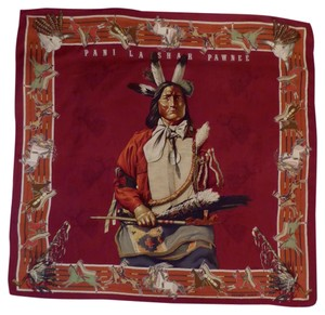 Hermès Hermes Scarf - Cashmere Pawnee Indian chief portrait