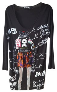 Desigual short dress multicolor Logo Tunic Draped Allsaints on Tradesy