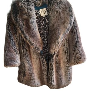 Burning Torch Faux Fur Faux Fur brown Jacket