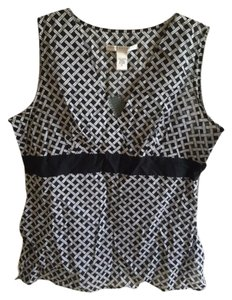 Geoffrey Beene Sleeveless Top black and white