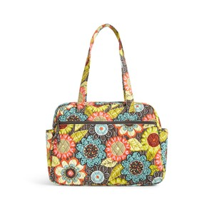 Vera Bradley Cotton Floral Teal Flower Shower Diaper Bag