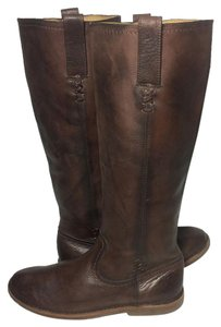 Frye 76324 Celia Leather Motorcycle 7.5 Women 7.5 Brown Boots