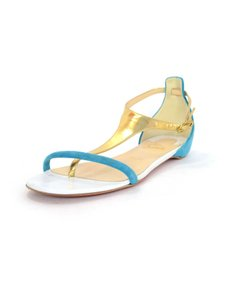 Christian Louboutin Blue/Gold Sandals