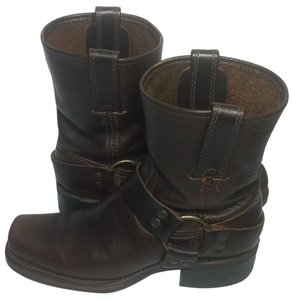 Frye 77455 Harness Women 6.5 Women Harness Women Size 6.5 Brown Boots