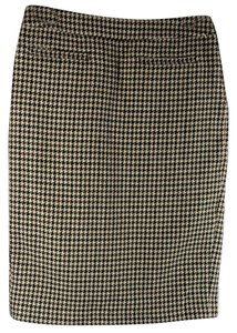 RED Valentino Houndstooth Wool Italy Skirt Brown