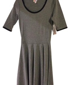 LuLaRoe short dress Gray with black trim on Tradesy