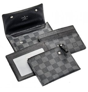 Louis Vuitton Louis Vuitton Damier Graphite Compact Modulable 4 in 1 Wallet N63083