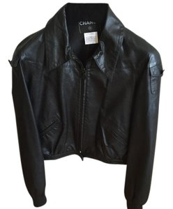 Chanel Leather Leather Jacket