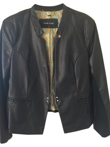 Black Rivet Leather Metallic Hardware Black Leather Leather Jacket