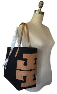 Tory Burch Tote in Black Tan
