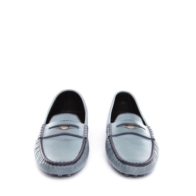 Item - Turquoise Women Leather Distressed Blue Heaven Penny Loafers Flats Size US 10.5 Regular (M, B)