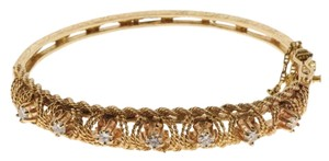 BELOW WHOLESALE - 14k gold 1 ct diamond bangle bracelet