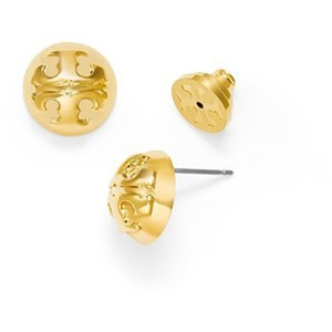 Tory Burch SALE Gold Dommed Stud Earrings