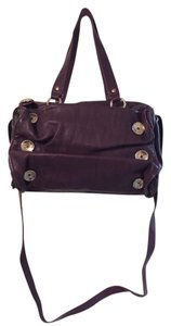 Kensie Girl Satchel in Purple Gold
