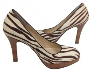 Oh Deer! Zebra Fur Pumps