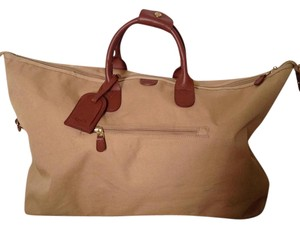 Bric's Leather Luggage Brown Khaki Travel Bag