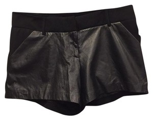 DREW Faux Leather Sexy Mini/Short Shorts Black