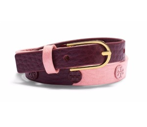 Tory Burch COLOR-BLOCK DOUBLE-WAP LOGO STUD BRACELET