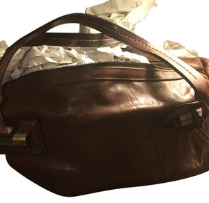 tentazione due bag Brown Leather Tote in Brown